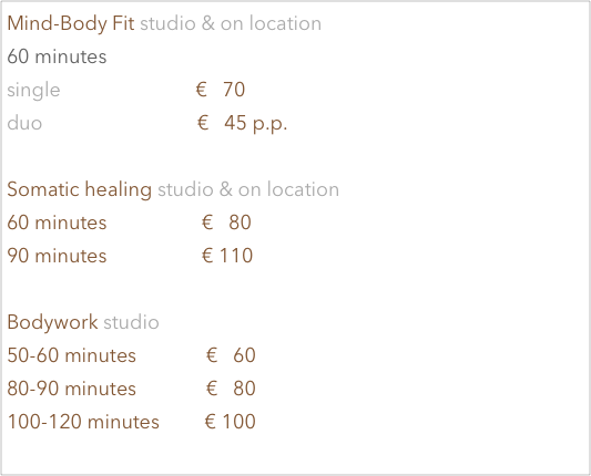 5 Pillars Somatics studio & on location